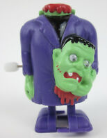 RARE Headless FRANKENSTEIN Wind Up White Knob Toy Russ Universal Monster MINT