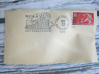 Vintage NCAA 1987 Final Four Bobby Knight Indiana Hoosiers Stamped Envelope