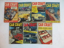 Lot of 7 Vintage CAR CRAFT Magazines 1955 Customizing Repair Hot Rods Stock Cars