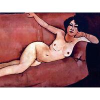 Amedeo Modigliani Act On A Sofa Almaiisa Old Master Art Painting Canvas Print