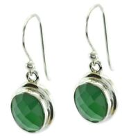 feine grüne Onyx 925 Sterling Silber grüne Ohrring echte Edelsteine DE