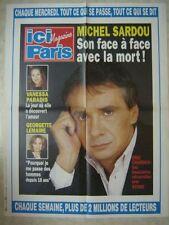 AFFICHE PROMO ICI PARIS VANESSA PARADIS MICHEL SARDOU