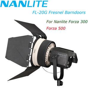 Nanlite FL-20G Fresnel Barndoors Bowens Lens Nanlite Forza 300W  Forza 500W Lamp