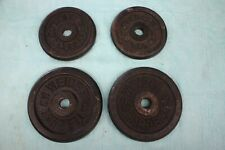 """(4) weider weight plates 1"""" hole Two 10 lbs & Two 5 lbs = 30lbs total -Free Ship"""