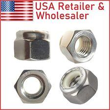 304 316 Stainless Steel Nylon Insert Hex Lock Nuts #2 #3 #4 #5 #6 #8 #10 #12 1/4