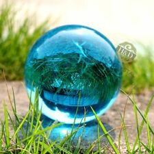 Light Blue 50mm Quartz Magic Crystal Cut Glass Healing Ball Sphere + Stand