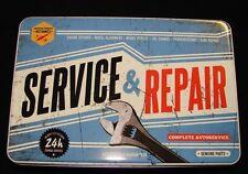 Vintage Style Retro Lidded Storage Tin - Service & Repair USA Garage Style