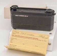 Leica Winder M4-2 Motor Drive Power Fits Leitz M4P M6 Rangefinder Cameras Canada
