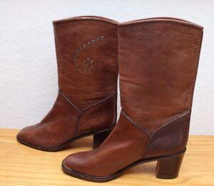 Stiefel Damen Leder Made in Italy Gr. 41.