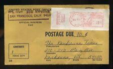 Vintage 1967 Postage Due Stamp Cover San Francisco Kaukauna Wisconsin Envelope