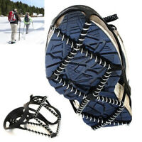 EB_ Anti Slip Snow Ice Climbing Spikes Grips Crampon Cleats Shoes Cover for Hiki