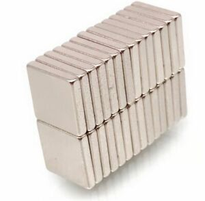 10 x N35 Neodymium Magnets ~ 10mm x 10mm x 2mm thick ~ SQUARE Magnetic DISCS