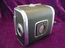 Hasselblad A12 film back, with matching insert, chrome and black.medium format.