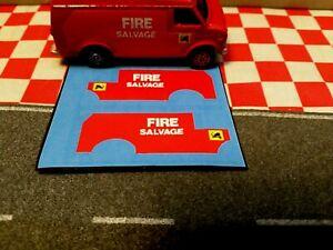 Corgi Juniors US Van + Chevrolet Van Fire Salvage, Set of Stickers only  NO VAN
