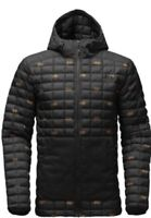 The North Face MEN'S THERMOBALL SNOW HOODIE BLACK DOUBLE VISION SZ XL NEW