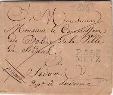 Lettre/Cover P.55.P. Metz (Moselle) pour Sedan 1816