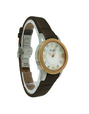 Bulova Accutron 65P105 Women's Roman Numeral Mother Of Pearl Diamond Watch