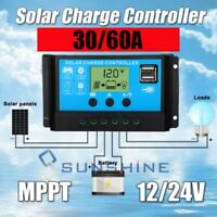 PWM 12V 24V Auto Dual USB Solar Panel Controller Battery Charge Regulator 60A