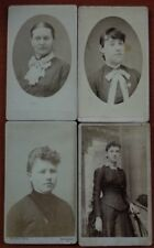 Vintage 1800s photo lot of 4 women
