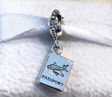 Pandora Adventures Awaits Passport Charm 791147CZ +Gift Packaging +Gift Pouch