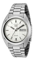 Seiko 5 Automatic SNXF05 SNXF05K1 Men Day Date White Dial Stainless Steel Watch