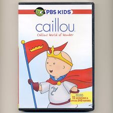 Caillou World of Wonder 2006 preschool child adventures, new DVD 90 minutes PBS