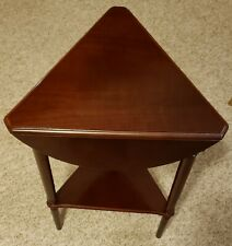 Bombay Company Drop-Leaf 3 Legs Side Table - Round convert to Triangle Top