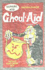 Vintage 70s wacky iron on t shirt transfer GHOUL AID