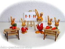Escuela De Liebres Conejo Pascua Set 5 piezas con profesor bola 25039