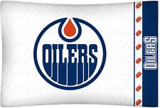 NEW EDMONTON OILERS NHL Standard Microfiber Knit Pillowcase