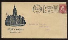 Usa Iowa 1911 Frank Bentley Ilustrado cubierta Bonita Bandera Cancelar
