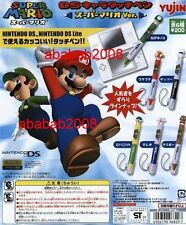 Yujin Super  Mario Bros NDS stylus pen Part.2 Gashapon figure (full set 6 pcs)
