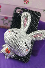 I-89 IPHONE 4/4s XXL Bunny Rabbit 3D Hard Cover Rhinestones Case