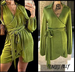 PRINCESS POLLY Women Green Party Time Mini Dress Size 10