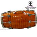 Buy Wooden Musical Dholak Instrument Drum Nuts & Bolt With Kit Carry Bag 001