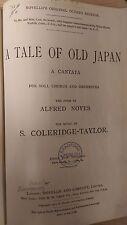 Coleridge-Taylor: A Tale Of Old Japan: Music Score (A6)