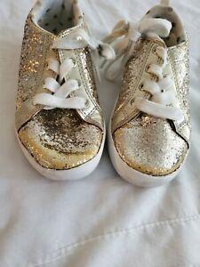 Carter's Girls' Emilia Casual Sneaker, Gold, glitter size 11