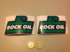 2 x ROCK OIL Stickers decals RD 350 250 125 LC banshee YPVS 7