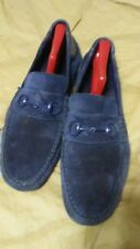 Gucci Mens Blue Suede Shoes