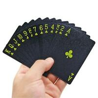 Black PVC Poker Waterproof Plastic Playing Cards Party Board Game Scrub Poker