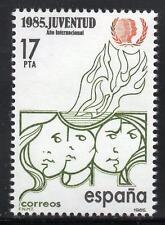 España estampillada sin montar o nunca montada 1985 SG2798 Año Internacional de la Juventud