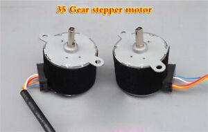 2pcs DC12V permanent magnet stepper motor reducer 35BY412 reduction ratio 1/42.5