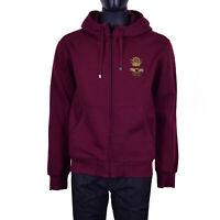 DOLCE & GABBANA Bee Crown Embroidery Hoody Jacket Sweatshirt Bordeaux Red 07164