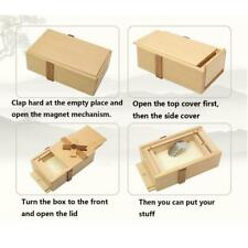 Puzzle Gift Case Box with Secret Compartments Wood Money Box to Challenge Fun