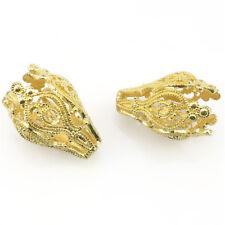 22353 2pcs Gold Hollow Tassel Beads Cap Diy Jewelry Hole 14mm