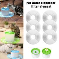 2/4/6 Pc Pet Fountain Automatic Water Dispenser Activated Cat Filter Dog G9E2