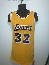 LA Lakers 32 Magic Johnson NBA Hardwood Classic Swingman Yellow Men Jersey NWT