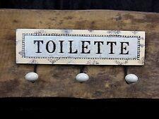 Kleiderhaken Toilette WC Bad 3 Haken Wandhaken Gaststätte Gardrobe Vintage