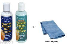 Aramith Pool Ball Restorer, Cleaner & Micro Fiber Towel - 3 Pieces - FREE SHIP
