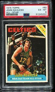 1975-1976 Topps Basketball #80 JOHN HAVLICEK Boston Celtics PSA 6 EX-MT